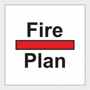 Fire Control Fire Plan Sign