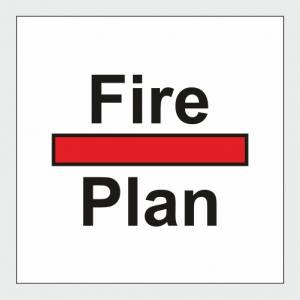 Fire Control Fire Plan Sign