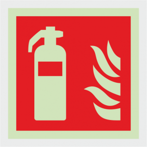 Fire Fighting Equipment Extinguisher Safety Sign image