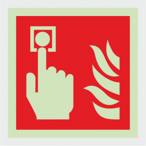 Fire Fighting Equipment Fire Alarm Call Point Safety Sign image