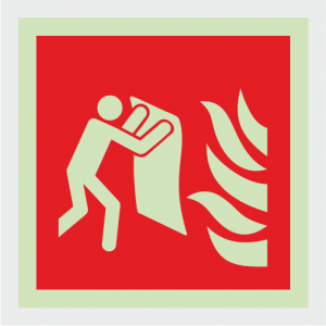Fire Fighting Equipment Fire Blanket Safety Sign image