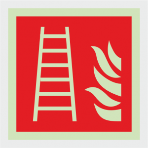 Fire Fighting Equipment Fire Ladder Safety Sign image