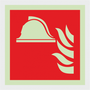 Fire Fighting Equipment Fire Locker Safety Sign image