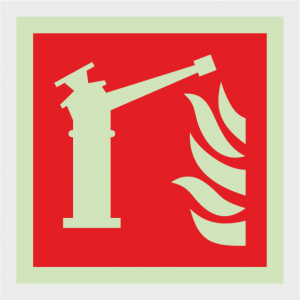 Fire Fighting Equipment Fire Monitor Safety Sign image