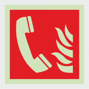 Fire Fighting Equipment Fire Telephone Safety Sign image
