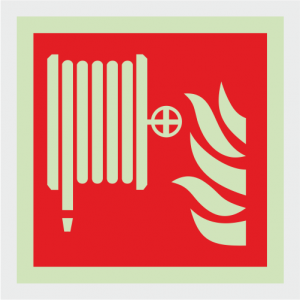 Fire Fighting Equipment Hose Reel Safety Sign image