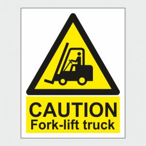 Hazard Warning Caution Fork lift Truck Sign image