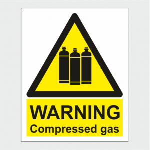 Hazard Warning Compressed Gas Sign image