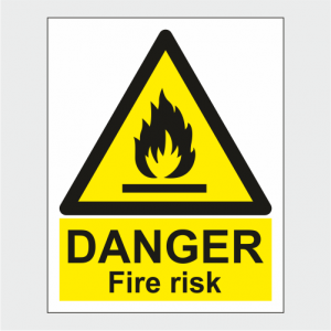 Hazard Warning Danger Fire Risk Sign image