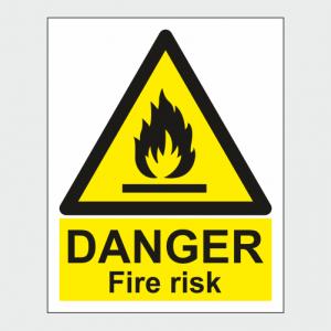 Hazard Warning Danger Fire Risk Sign