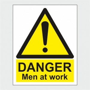 Hazard Warning Danger Men At Work Sign image