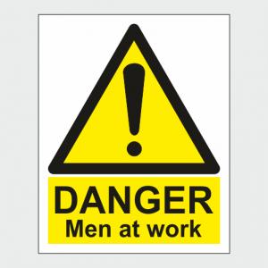 Hazard Warning Danger Men At Work Sign