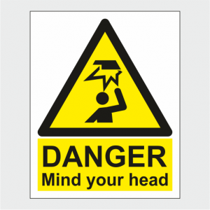 Hazard Warning Danger Mind Your Head Sign image
