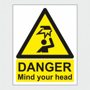 Hazard Warning Danger Mind Your Head Sign image