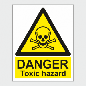 Hazard Warning Danger Toxic Hazard Sign image