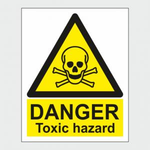 Hazard Warning Danger Toxic Hazard Sign
