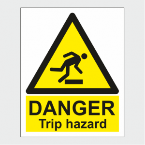 Hazard Warning Danger Trip Hazard Sign image