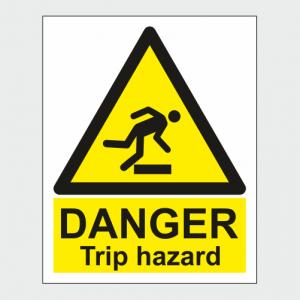 Hazard Warning Danger Trip Hazard Sign image