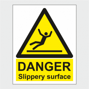 Hazard Warning Slippery Surface Sign image