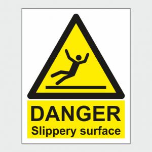 Hazard Warning Slippery Surface Sign