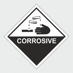 Hazardous Chemical Corrosive Sign