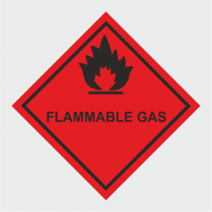Hazardous Chemical Flammable Gas Sign