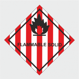 Hazardous Chemical Flammable Solid Sign