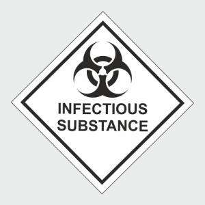Hazardous Chemical Infectious Substance Sign