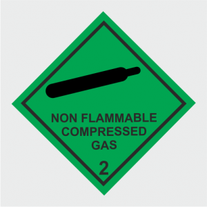Hazardous Chemical Non Flammable Compressed Gas Sign