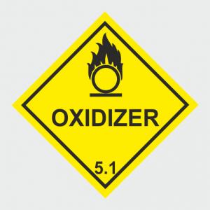 Hazardous Chemical Oxidizer Sign