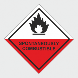 Hazardous Chemical Spontaneously Combustible Sign