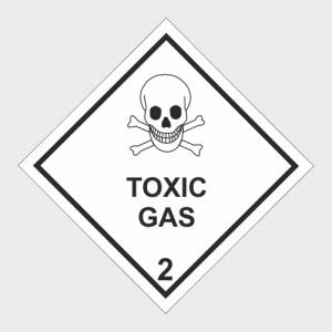 Hazardous Chemical Toxic Gas Sign