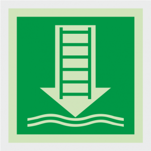 IMO Embarkation Ladder Safety Sign image