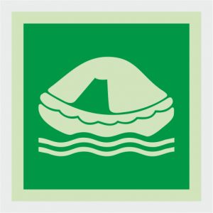 IMO Liferaft Safety Sign image
