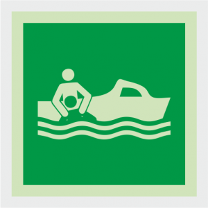 IMO Rescue Boat Safety Sign image
