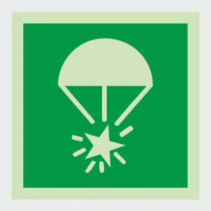 IMO Rocket Parachute Flare Safety Sign image