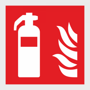 Low Location Lighting Fire Extinguisher Safety Sign image