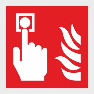 Low Location Lighting Fire Alarm Call Point Safety Sign image