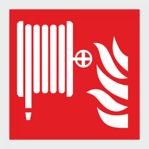 Low Location Lighting Fire Hose Reel Safety Sign image
