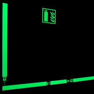 Low Location Lighting Photoluminescent Glow In The Dark Safety Sign image