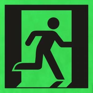 Low Location Lighting Running Man