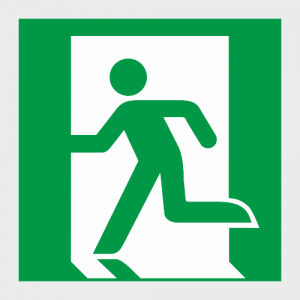 Low Location Lighting Running Man Exit Left Safety Sign image