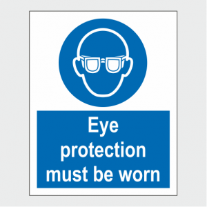 Mandatory Eye Protection Must Be Worn Sign image