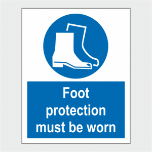 Mandatory Foot Protection Must Be Worn Sign image