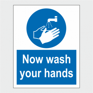 Mandatory Now Wash Your Hands Sign image