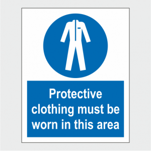 Mandatory Protective Clothing Must Be Worn In This Area Sign image
