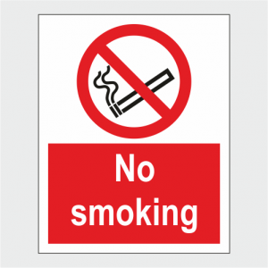 Prohibition No Smoking Sign image