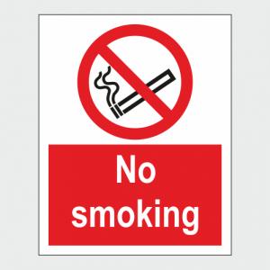 Prohibition No Smoking Sign image