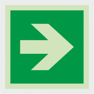 Safe Condition Arrow Sign image