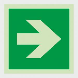Safe Condition Arrow Sign